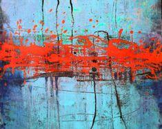 Arte pintura lienzo pintura ORIGINAL pintura por ColorMind en Etsy