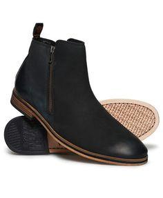 Superdry Trenton Zip Boots Black