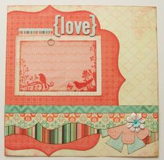 Love Premade 1 Page 12x12 Scrapbook Layout. $8.95, via Etsy.