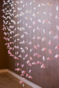 Anthropologie Inspired Paper Flower Garland by KMHallbergDesign