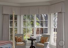 Want to perfect the look of your home or office? Contact Custom Drapery Designs for custom drapery and window treatments in Dallas, TX. Bay Window Treatments, Window Coverings, Window Valances, Curtain Box, Box Pleat Valance, Drapery Designs, Luxury Curtains, Luxury Rooms, Custom Drapes