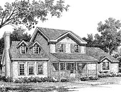 Farmhouse House Plan with 2286 Square Feet and 4 Bedrooms from Dream Home Source   House Plan Code DHSW17176