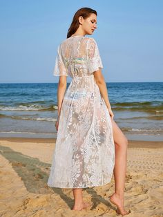 Shop Floral Lace Tassel Tie Beach Kimono online. SheIn offers Floral Lace Tassel Tie Beach Kimono & more to fit your fashionable needs.