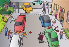 School op Seef verkeersplaat maart