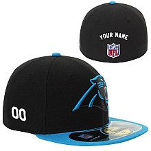 Men's New Era Carolina Panthers Customized Onfield 59Fifty Football Structured Fitted Hat