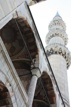 Blue Mosque, Turkey. Minarett  Picture taken