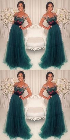 Green A-line formal charming short sleeves tulle teal long prom dress, Shop plus-sized prom dresses for curvy figures and plus-size party dresses. Ball gowns for prom in plus sizes and short plus-sized prom dresses for Prom Dresses 2018, Long Prom Gowns, Short Prom, Prom Party Dresses, Bridesmaid Dresses, Wedding Dresses, Dress Prom, Formal Dresses, Occasion Dresses
