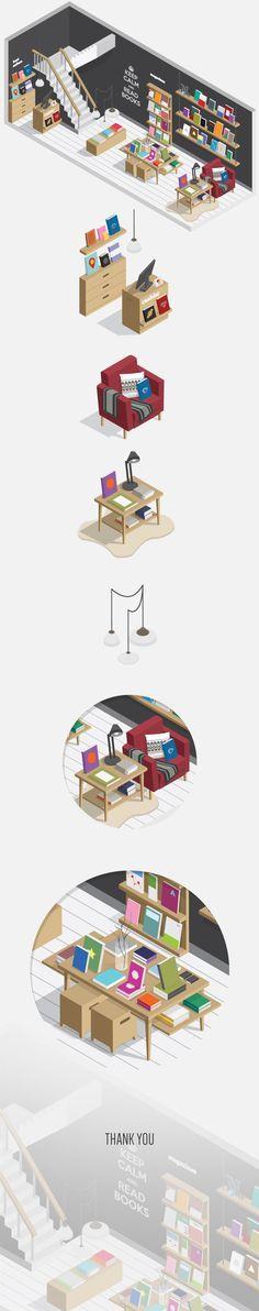 #flat_illustration Bookstore https://www.behance.net/gallery/21453685/Bookstore 647c8db172fb7a778da55128b1f4eefd.jpg (JPEG Image, 725×3664 pixels) - Scaled (26%)