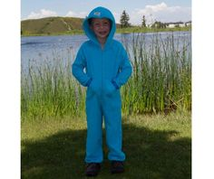 EZ Dry Onezie in turquoise blue.