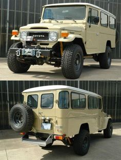 1984 toyota land cruiser. Just wow... Love the extended rear cabin.