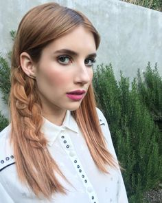 6 cool and fresh summer hairstyle ideas to try for a change: Emma Roberts's cool subtle side braid