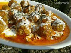 Sulu köfte v paradajkovej omáčke (fotorecept) - recept Turkish Recipes, Ethnic Recipes, Chicken Wings, French Toast, Meat, Breakfast, Anna, Food, Bulgur