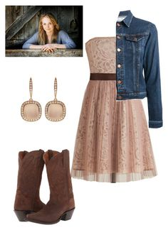 """""""Amber Marshall Style"""" by flawed-and-fearless ❤ liked on Polyvore featuring Ryu, MiH Jeans, Dan Post and Astley Clarke"""