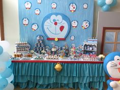 Doraemon Dessert Table