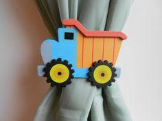 Dump Truck Curtain Tie Backs  Nursery Decor  by TonyaandJoshua, $13.80