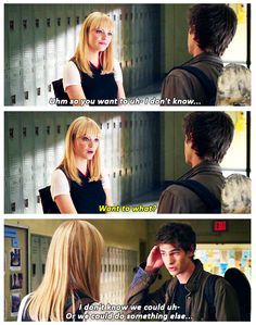i love this scene from The Amazing Spiderman. i love Emma Stone. and i definitely love Andrew Garfield!