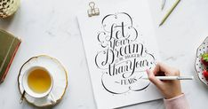 Want to try hand lettering? It's easier than you think. Here are hand lettering tools that will help you create beautiful letterforms. Appreciation Message, Handwritten Text, Script Fonts, Business Coach, Business Ideas, Business Analyst, Business Opportunities, Business Flyer, Investment Quotes