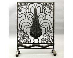 deco iron | wrought iron art deco fireplace screen