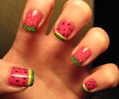 Epic melon nails! Nail art rocks!