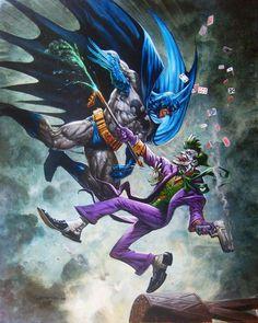 Batman vs Joker by Greg Staples Joker Batman, Joker Art, Batman And Superman, Joker And Harley, Joker Comic, Batman Stuff, Joker Kunst, Batman Kunst, Comic Book Heroes