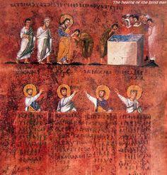 Codex Purpureus Rossanensis Healing the Blind Man
