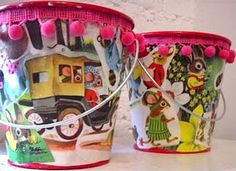 decoupage paint cans for party - Google Search