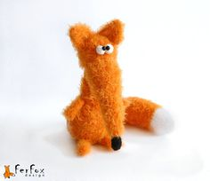 Crochet fox plush stuffed fox amigurumi fox by FerFoxDesign