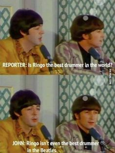 Ringo the best drummer in the world