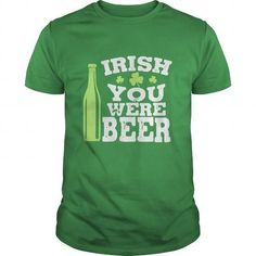 Awesome Tee Irish You Were Beer - Funny T Shirt Design T-Shirts