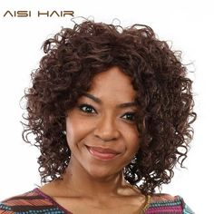 Now available in our store Synthetic Dark Br... Check it out here! http://midebeautyhub.myshopify.com/products/synthetic-dark-brown-african-heat-resistant-short-hair?utm_campaign=social_autopilot&utm_source=pin&utm_medium=pin