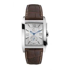 Montre GC X64004G1 - Montre Cuir Marron Acier Homme  - marque : GC Guess Collection est connue pour ses montres robustes et esthétiques. La collection Classic est faite pour les hommes d'aujourd'hui. Cette montre GC X64004G1 est réalisée en aci... prix : 329.00 €  chez Bijourama #GC #Bijourama