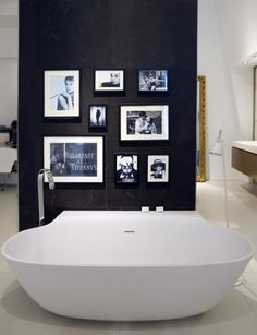 Not A Fan Of The Tub But My Black And White Bathroom Needs This Audrey