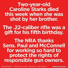 Yes, because giving a 5-year-old boy a rifle for his birthday is such a good idea.