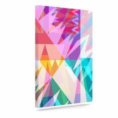 "Miranda Mol ""Triangle Feast"" Abstract Geometric Outdoor Canvas Art"