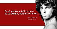 """""""Dacă pentru a trăi trebuie să te târăști, ridică-te și mori."""" Jim Morrison"""