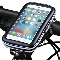 Bike Phone Mount, RISEPRO Waterproof Universal Case Bicycle & Motorcycle Mount Cradle Holder Dust Rain Snow Resistant iPhone 5 5S 5C, Galaxy S6, S5 Medium Size >>> Details can be found by clicking on the image.