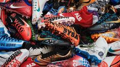 As part of the NFL's campaign, several Patriots will don custom cleats to support charity this week, including safety Devin McCourty. Cool Football Cleats, Football Fans, 32 Nfl Teams, Thursday Night Football, Nfl Network, New England Patriots, Charity, Hiking Boots, Houston Texans