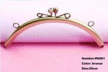 Бесплатная доставка PA061 1 шт. кошелек вешалка кадров выросли на 20 см бронзовый металлическими зажимами кошельки аксессуары ручки сумки Diy части мешок(China (Mainland))