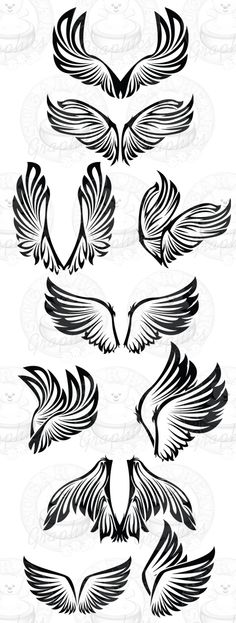 Discover thousands of images about Tattoos - like me! Tribal Wings, Phoenix Wings, Rose Drawing Tattoo, Eagle Wings, Ange Demon, Wings Design, Desenho Tattoo, Motif Floral, Assemblage Art