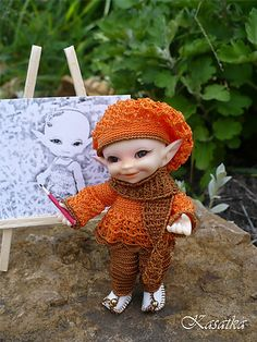 Ravelry: Cornflower for RealPuki dolls pattern by Oksana Lifenko