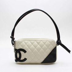 CHANEL Cambon Shoulder bags White Leather A25175