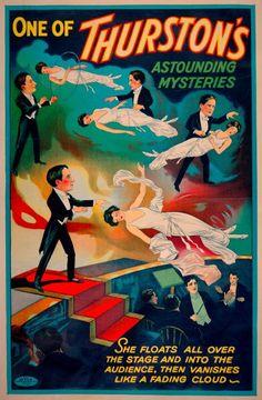 vintage show poster- 1906-1925 - Thurston's dans: Un des etonnants mystères de Thurston- art deco poster- art print- vintage