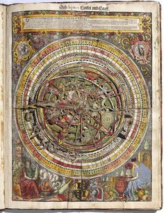 The 1575 Archidoxa, a large book in the form of an astrolabe with tables of the planets, designed by Leonhard Thurneysser.