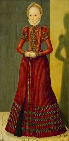 Elisabeth of Saxony, Countess Palatine of Simmern by  Lucas Cranach the  Younger,c. 1564