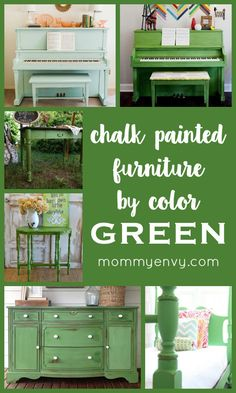 painted green furniture. painted furniture by color green green