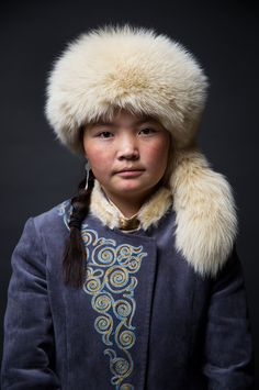 """Aisholpan Nurgaiv, an eagle trainer from Kazakhstan who is the star of the documentary """"Eagle Huntress,"""" directed by Otto Bell."""