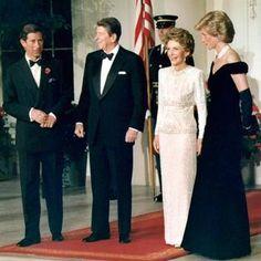 Prince Charles, Ronald Reagan, Nancy Reagan and Princess Diana