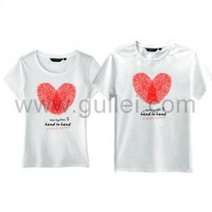 a53e33c02c Unique Thumb Impressions Matching Hearts Valentines Couples T Shirts for 2