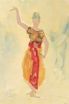 Auguste Rodin - Cambodian Dancer Poster Print for sale online Auguste Rodin, Camille Claudel, Rodin Drawing, Orange Art, Principles Of Art, Aesthetic Painting, Life Drawing, Op Art, Figurative Art