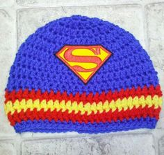 Superman+Hero+Crochet+Beanie